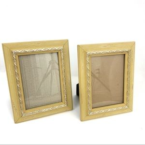Pier 1 Distressed Wood Yellow Picture Frames Set